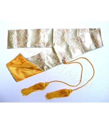 SEIDENHÜLLE gold mit bunten Ornamenten