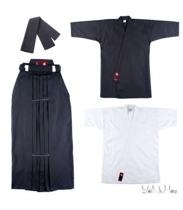 Iaido Set Beginner | Iaidogi + Shitagi + Hakama + Kaku Obi