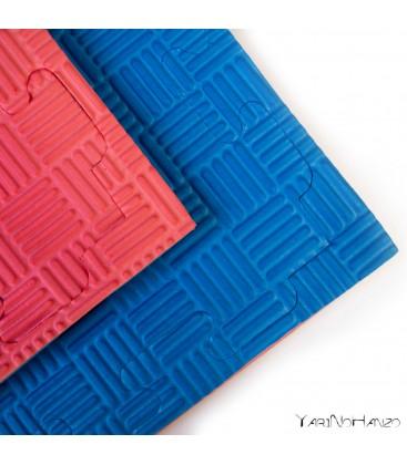 SET 10 ST. | 2,5 cm Tatami Puzzlematte für Karate Taekwondo | Puzzle Wendematte Tatami
