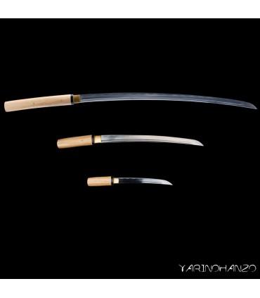 SHIRASAYA TRIS SHINKEN | KATANA, WAKIZASHI UND TANTO | SAMURAISCHWERT | HANDGEFERTIGT